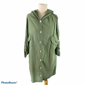 FIRST ANGELS Green Trench Coat